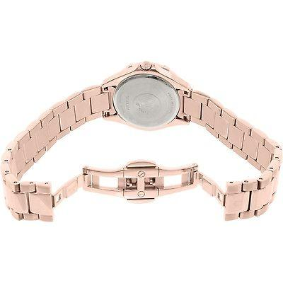 Bulova Women's Quartz Diamond Markers Rose Gold Bracelet 27mm Watch