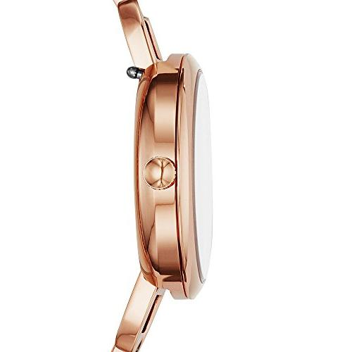 Fossil 'Annette' Quartz Stainless Watch, Color:Rose
