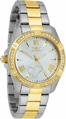 Invicta Women's 21418 Angel Analog Display Silver Heart Quar