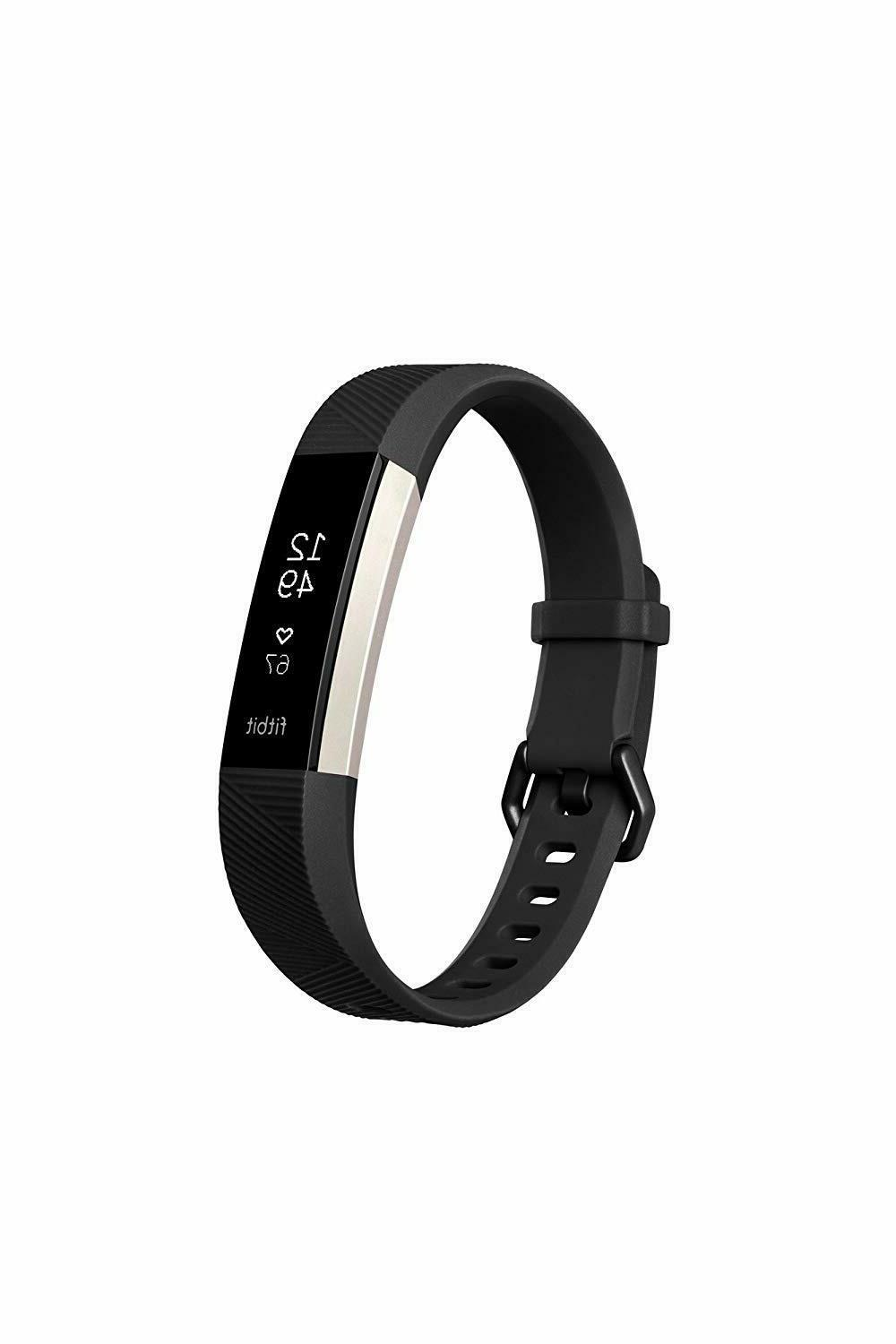 Fitbit Alta HR, Gunmetal, Special Edition Black Large Best for