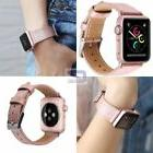 Apple Watch Band Genuine Leather iWatch Soft Womens Pink Ros