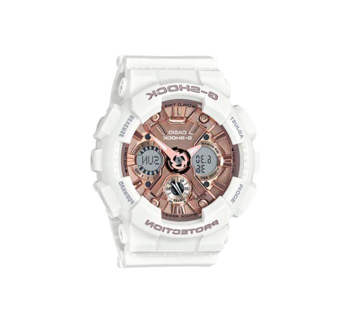 authentic g shock white and rose gold
