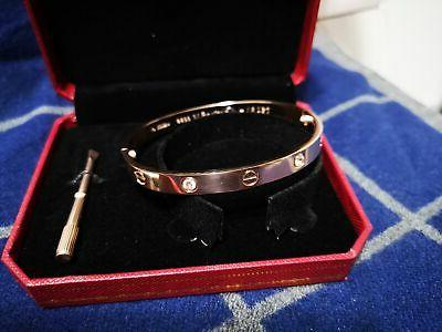 Authentic⁺cartier⁺Love Size Diamonds Bangle