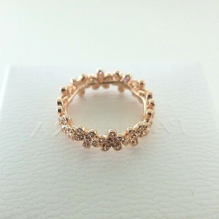 Pandora Authentic Gold Meadow Ring w/Box
