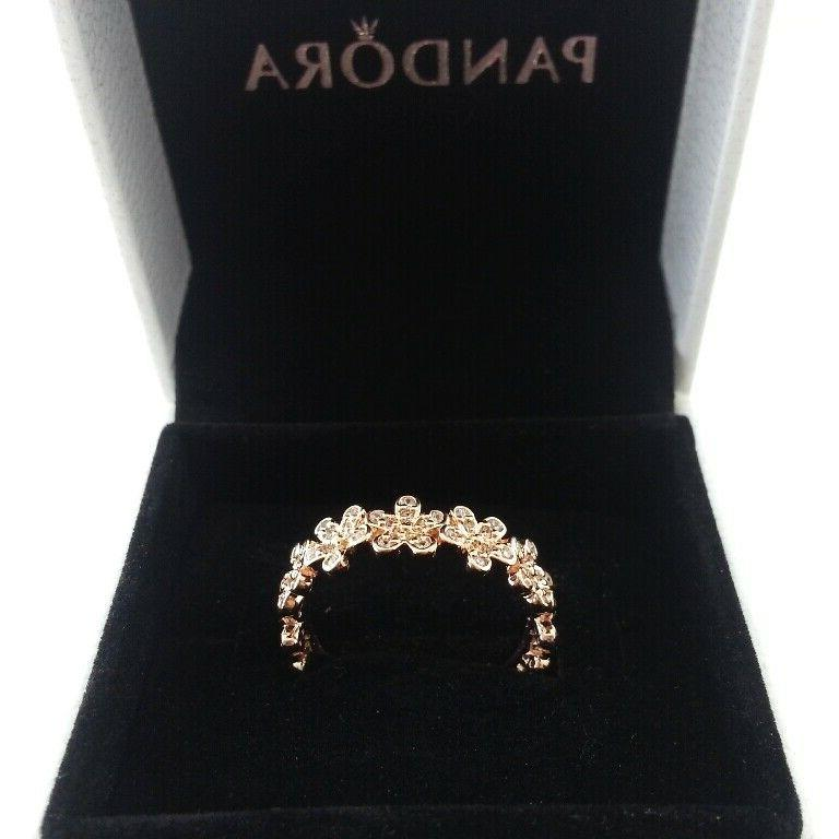 authentic rings rose gold dazzling daisy meadow
