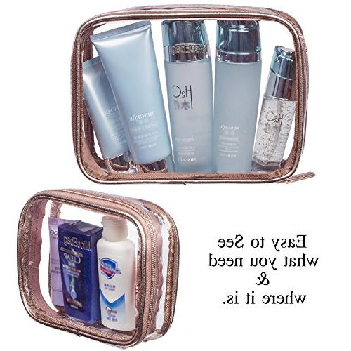 NiceEbag 5 Cosmetic Portable Toiletry Makeup Quart Pouch and