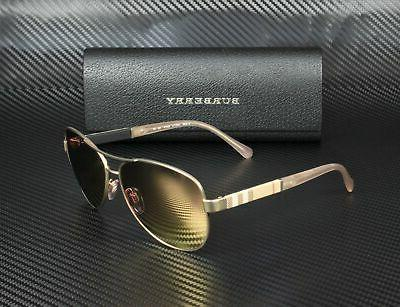 Burberry BE3080 12357J MATTE GOLD BROWN ROSE GOLD 59 mm Sunglasses