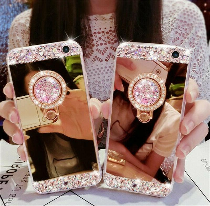 bling crystal glitter diamond mirror back case