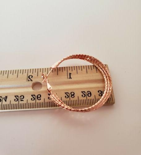 Breathtaking rose gold plated Triple row 1/2 inch