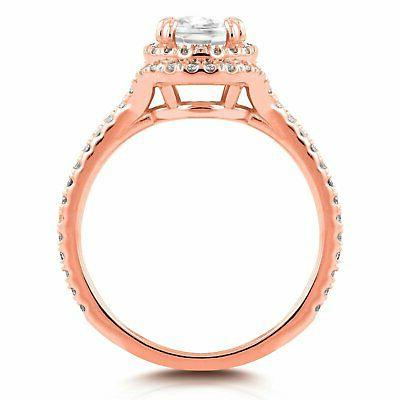 Annello 14k Rose and Halo
