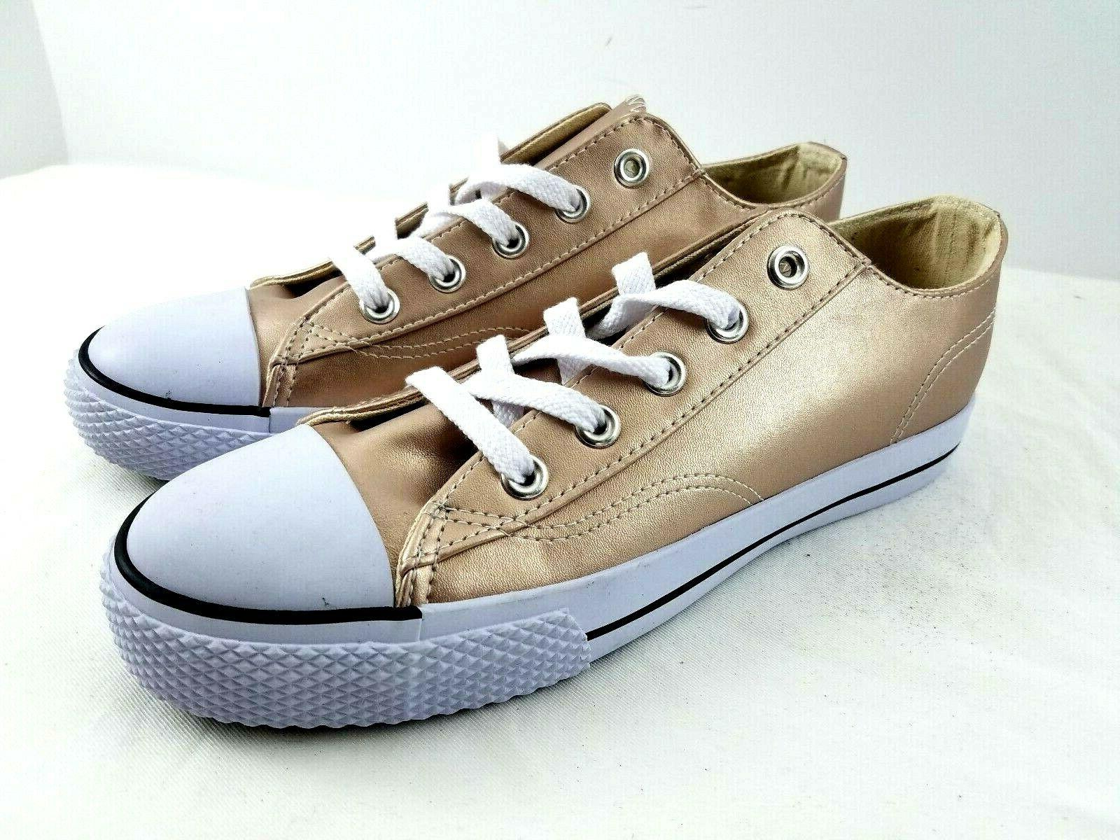 canvas rose gold shoe sneakers low cut