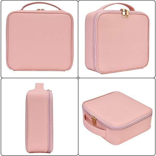 NiceEbag Makeup Cute Leather Organizer with for Cosmetics Make Tools Toiletry