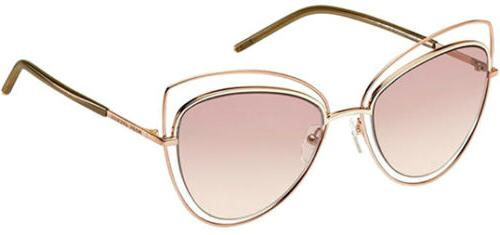 Women's Marc Jacobs 56Mm Cat Eye Sunglasses - Gold Copper