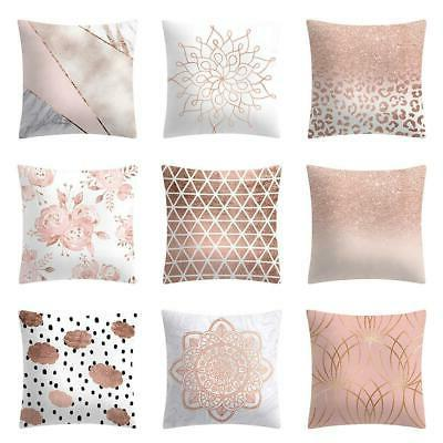 christmas covers rose gold pink throw pillow