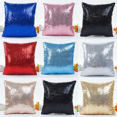 christmas sequins pillow case throw cushion cover