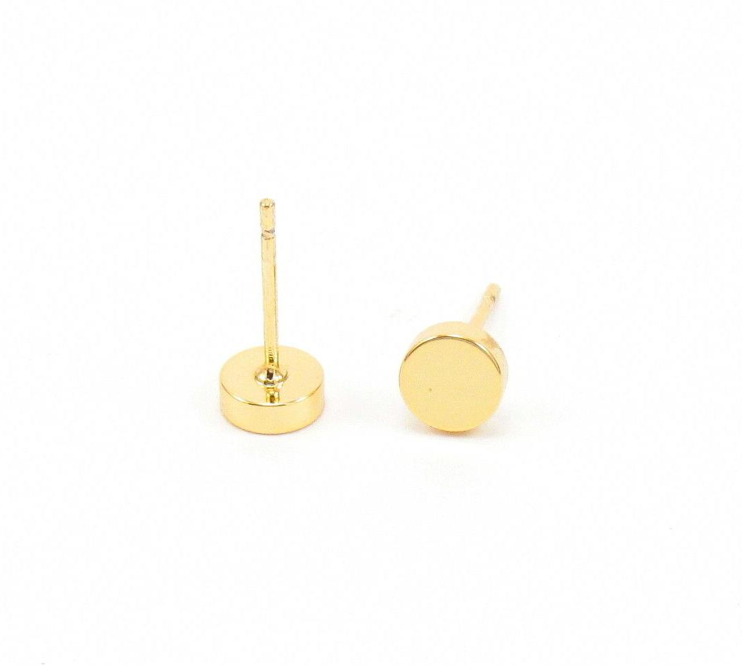 Circle Earrings Gold Discs Mens