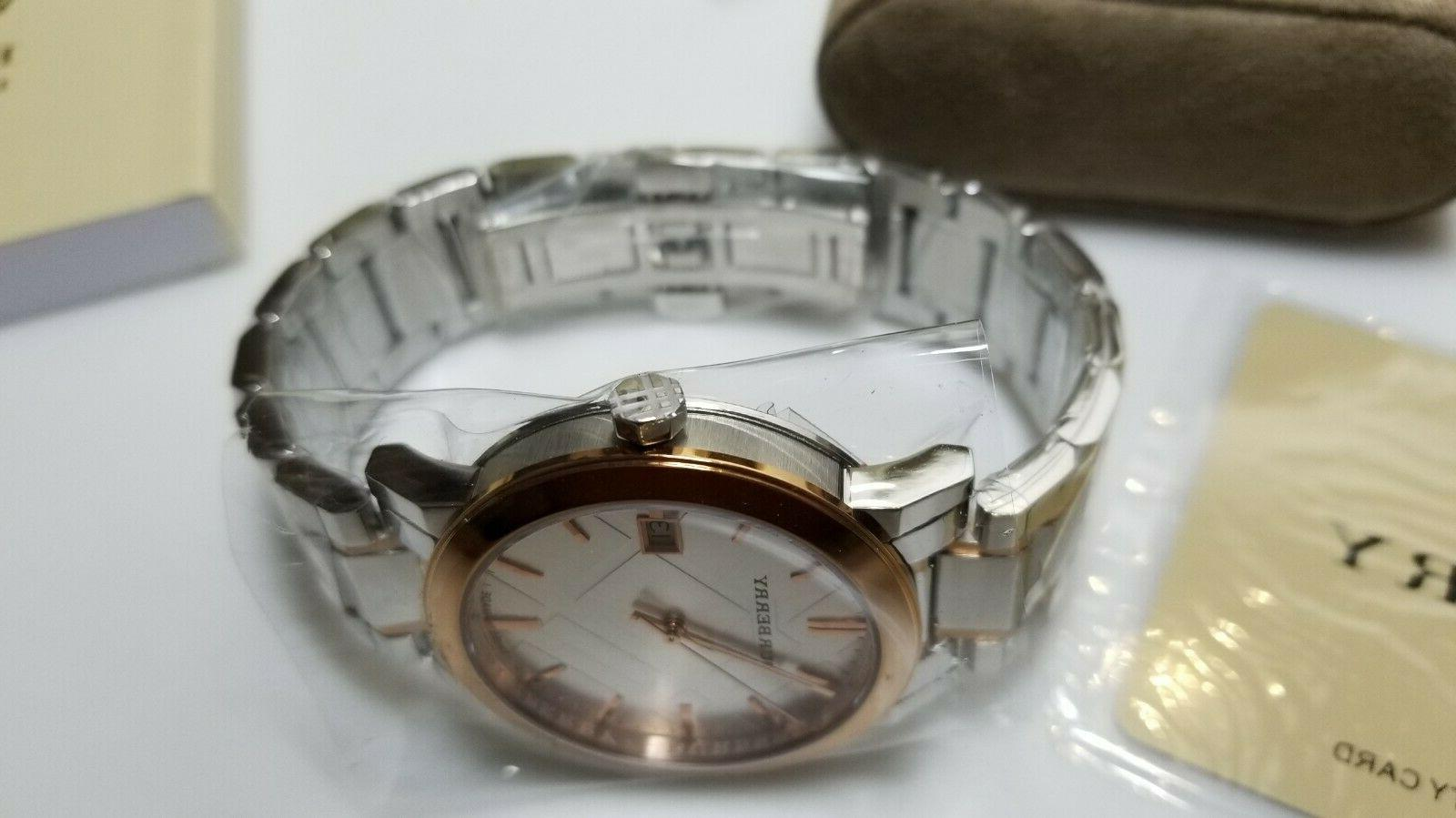 Burberry Tone Gold Stainless Date Swiss