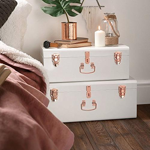 Beautify Steel Set Lockable and Decorative with Handles - College Dorm