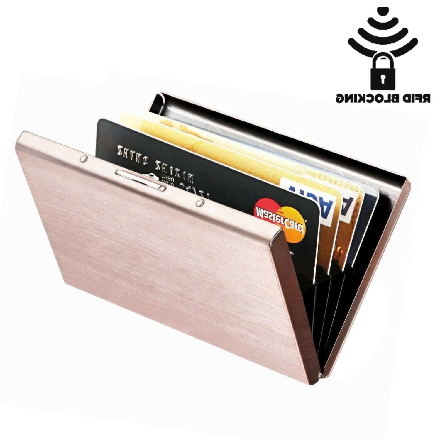 Credit Card Holder Wallet Case Protector RFID Blocking Alumi