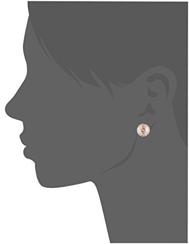 Women's Michael Classics' Earrings Clear/ Rose One Size
