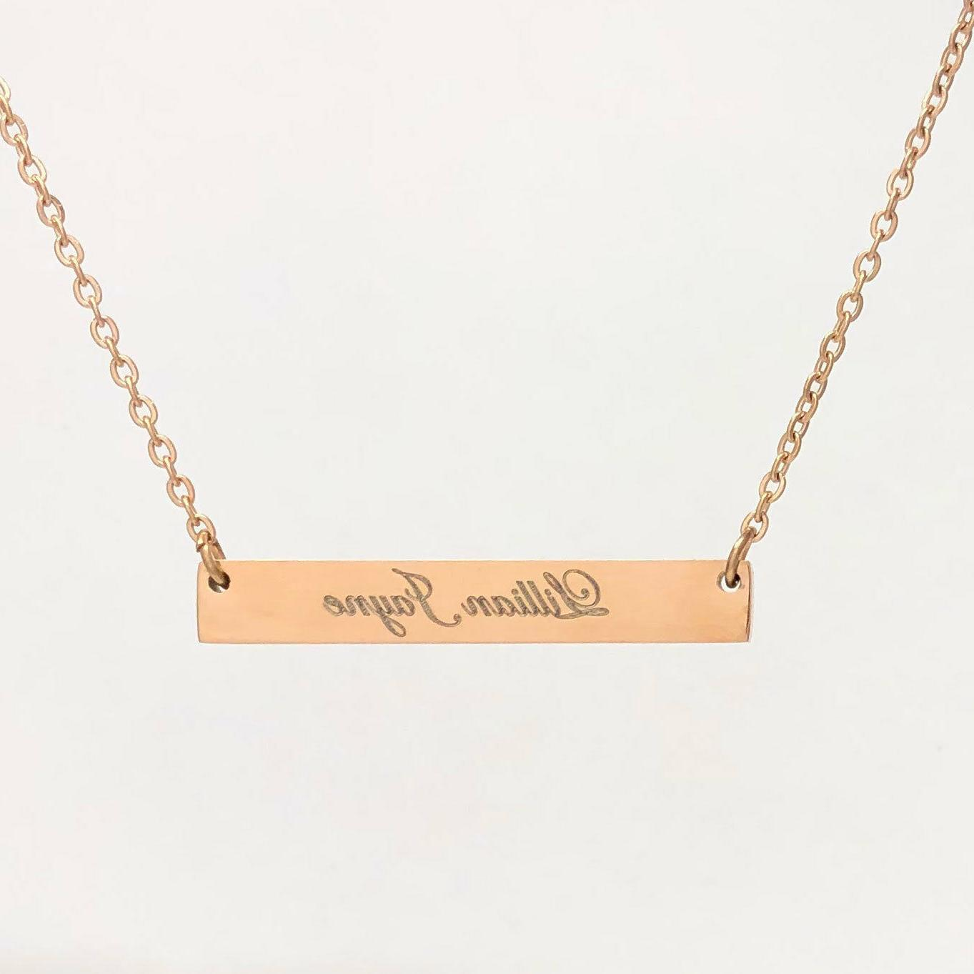 Custom Stainless Rose Gold Gift Personalized