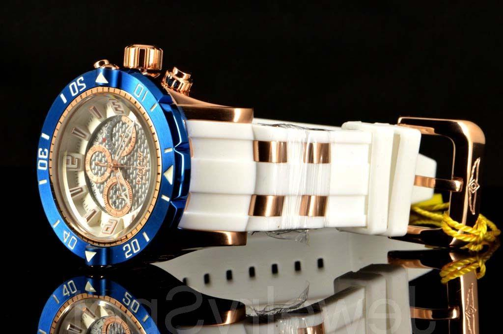 Invicta Pro III Deep Dial 50MM White Poly Watch