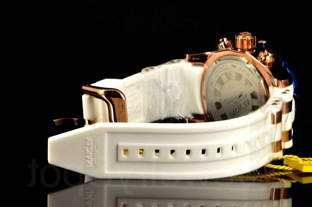 Invicta Pro III Deep White Dial 50MM Poly Strap Watch
