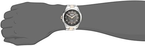 Drive Eco-Drive Men's Silver/Rose Gold-Tone with Date,