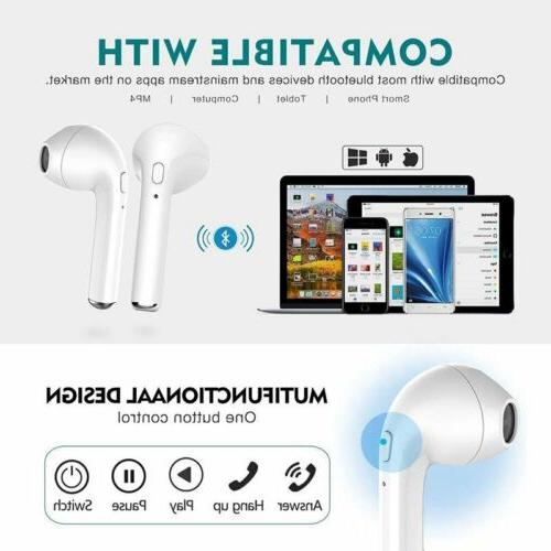 Earphone Bluetooth Earbud Ear Headset Android 8