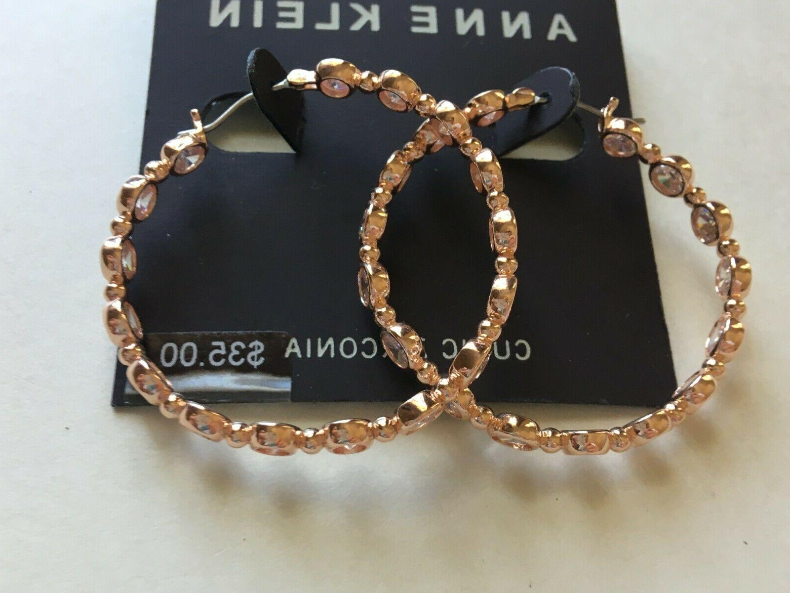 Anne Klein Earrings $35 Rose Gold Tone New Over Stock With