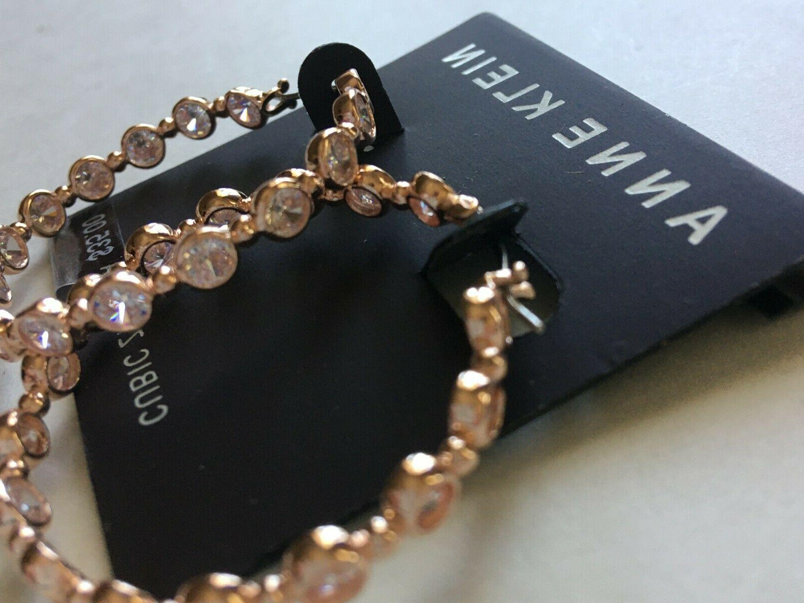 Anne Earrings $35 Rose Gold Tone New Over Stock With