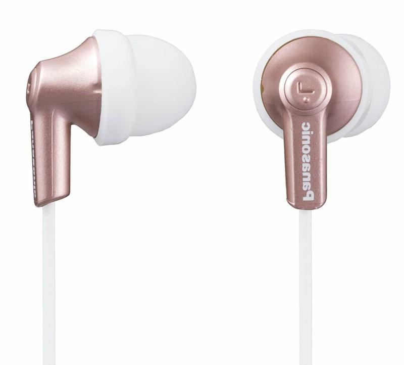 Panasonic Ergofit in-Ear Earbud Headphones Rose Gold