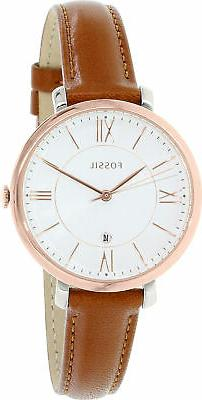 Fossil Women's ES3842 Jacqueline Rose Gold-Tone Stainless St