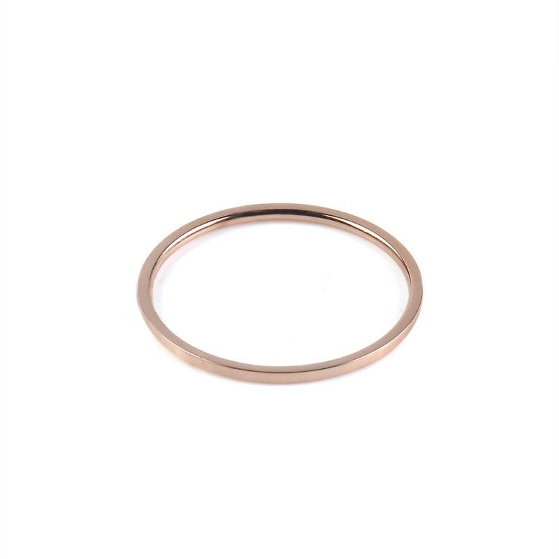Extremely Stainless Steel Men/Women's Band Rose Gold