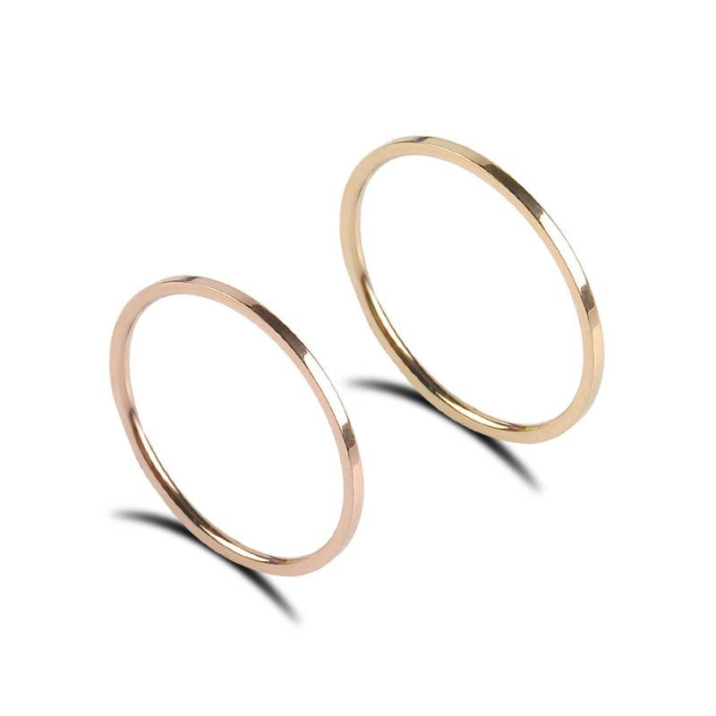 Extremely Stainless Steel Men/Women's Wedding Gold 3-10