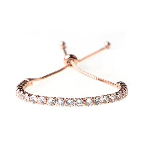 fashion adjustable chain bracelet for women cubic
