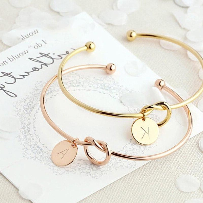 fashion name female jewelry initial alloy letter