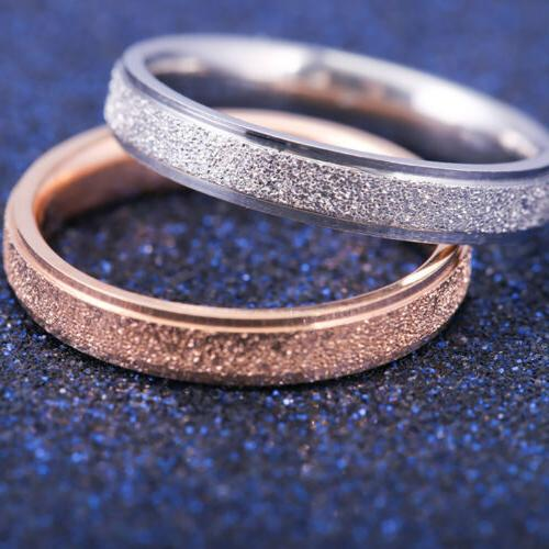 Fashion Gold Frosted Wedding Ring