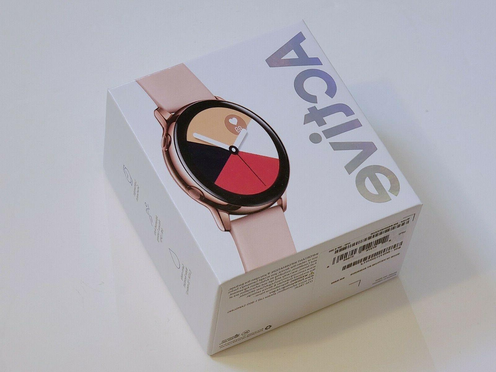 galaxy watch active 40mm rose gold bluetooth