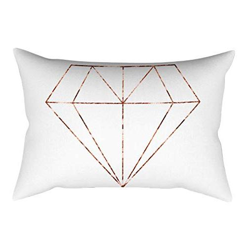 Youngnet Pattern Throw X 20 Gold Decorative Rectangle Pillow Cover Case for Bed Couch Hidden