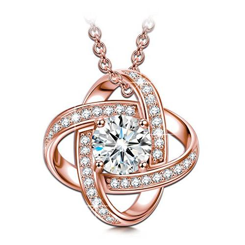 gifts for women necklace rose gold jewelry