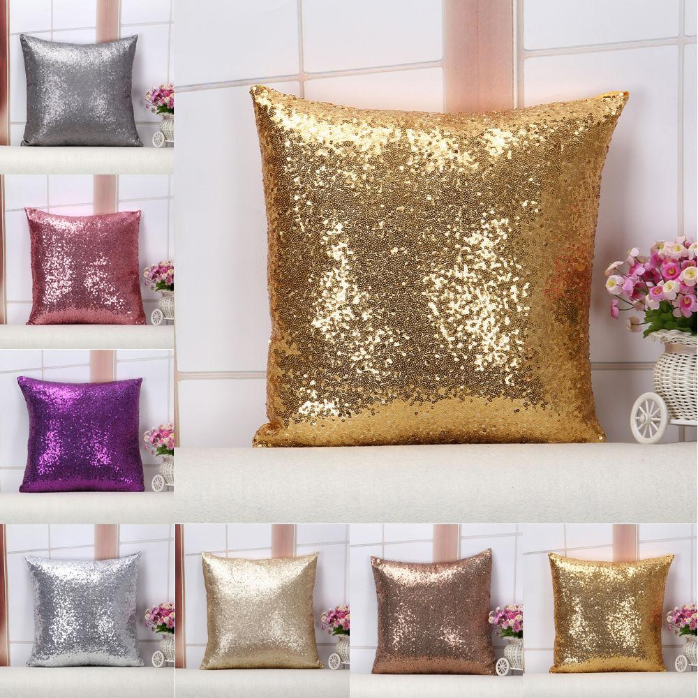 Glitter Case Throw Sofa Cushion Cases