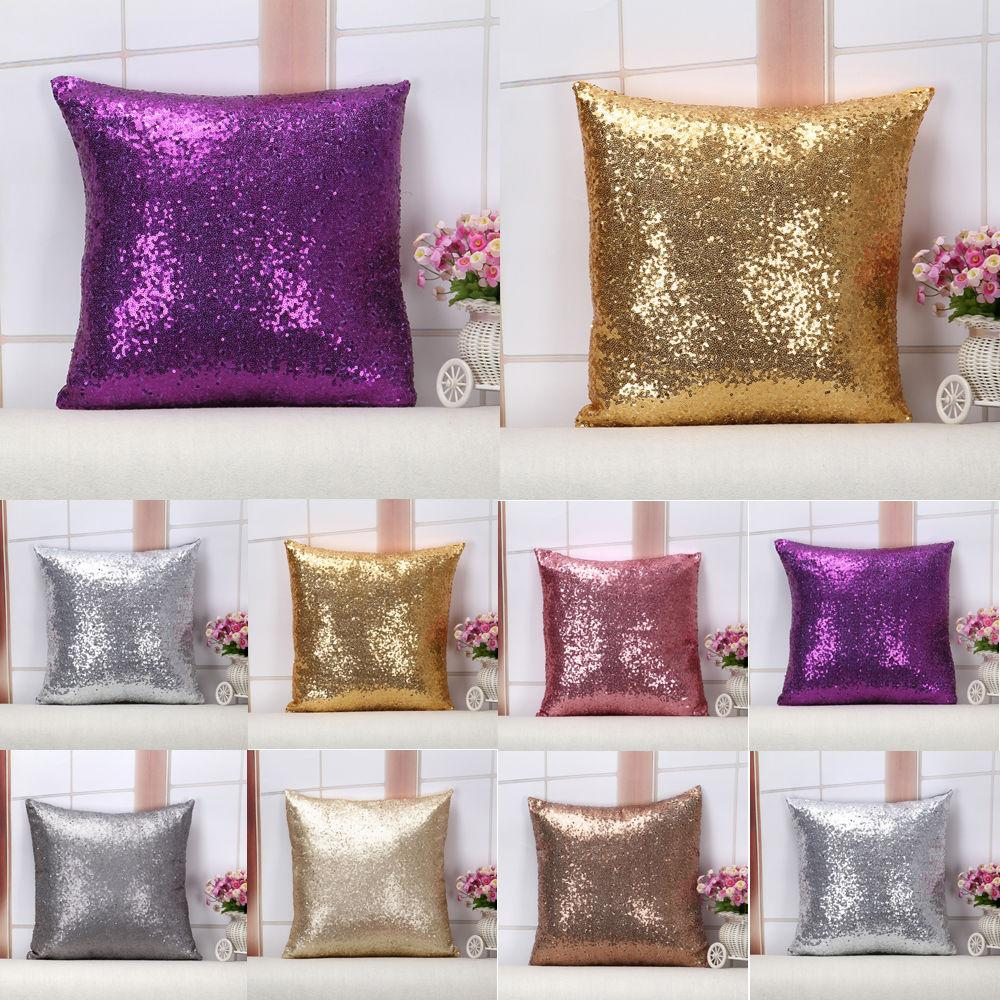 Glitter Sequins Pillow Case Waist Cushion Decoration