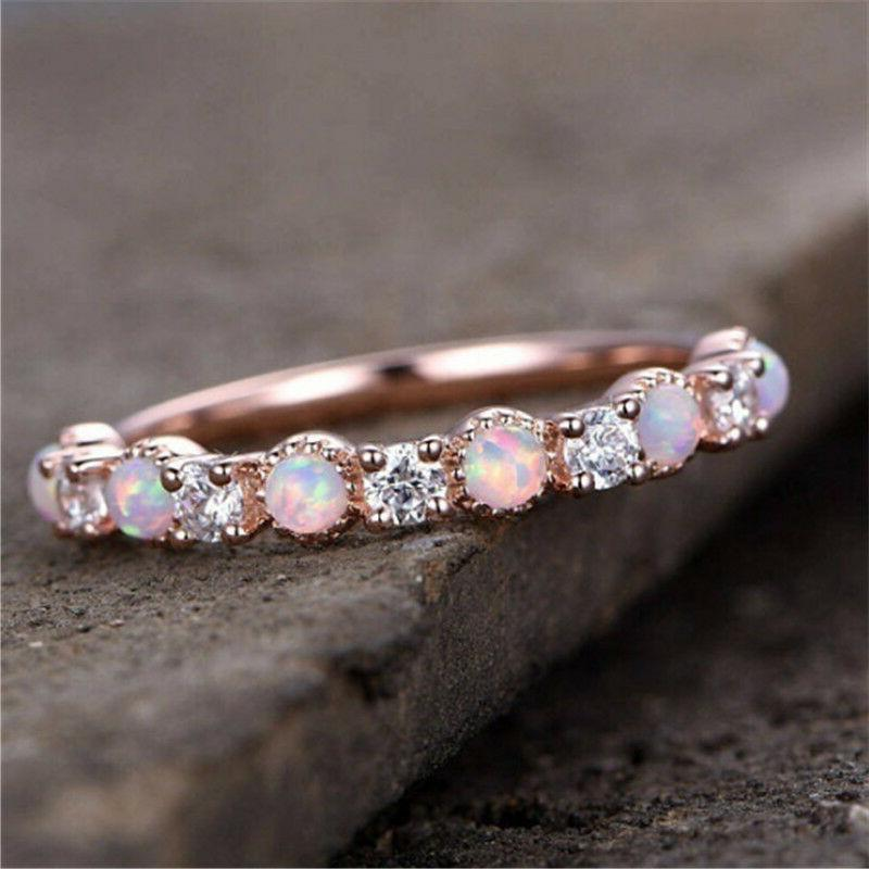 gorgeous rose gold filled pink fire opal