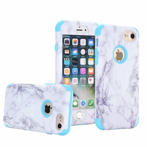 Granite Marble Protective Hybrid Rugged Phone Case iPhone 5 SE 6s 7 8