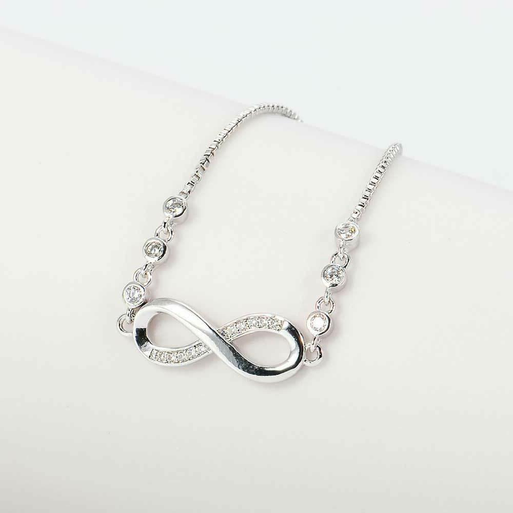 Infinity Stainless Crystal Jewelry