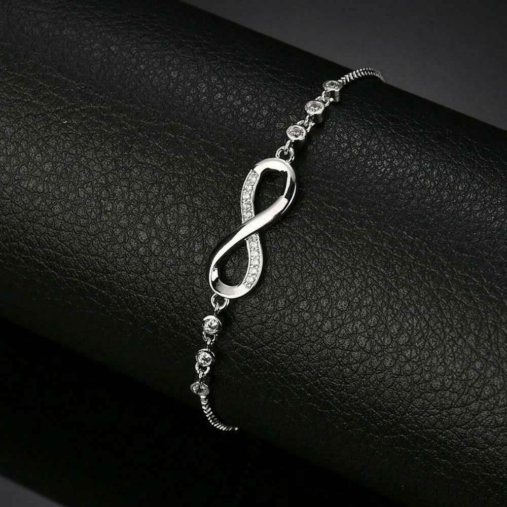 Infinity BRACELET Charm Stainless Crystal