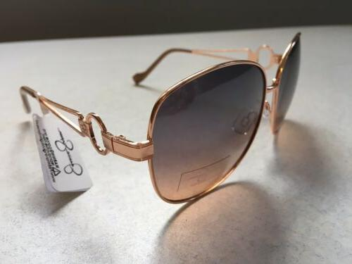 Jessica Simpson Gold Nude Sunglasses NWT