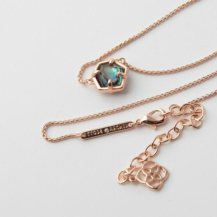 jaxon rose gold pendant necklace in abalone
