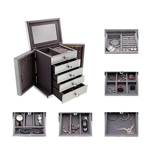 Jewellery 5 4 Exquisite Mirrored with Compartments,Rose Gold Finish